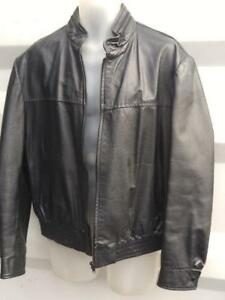 Oakville MENS L Vintage 42 44 Black Leather Jacket Fall Short Coat Canada De Soto Cowhide Quality Retro Zip Retro