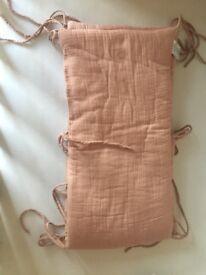 Crib bumper - Dusty Pink numero 74-