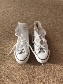 White high top converse *SIZE 5*