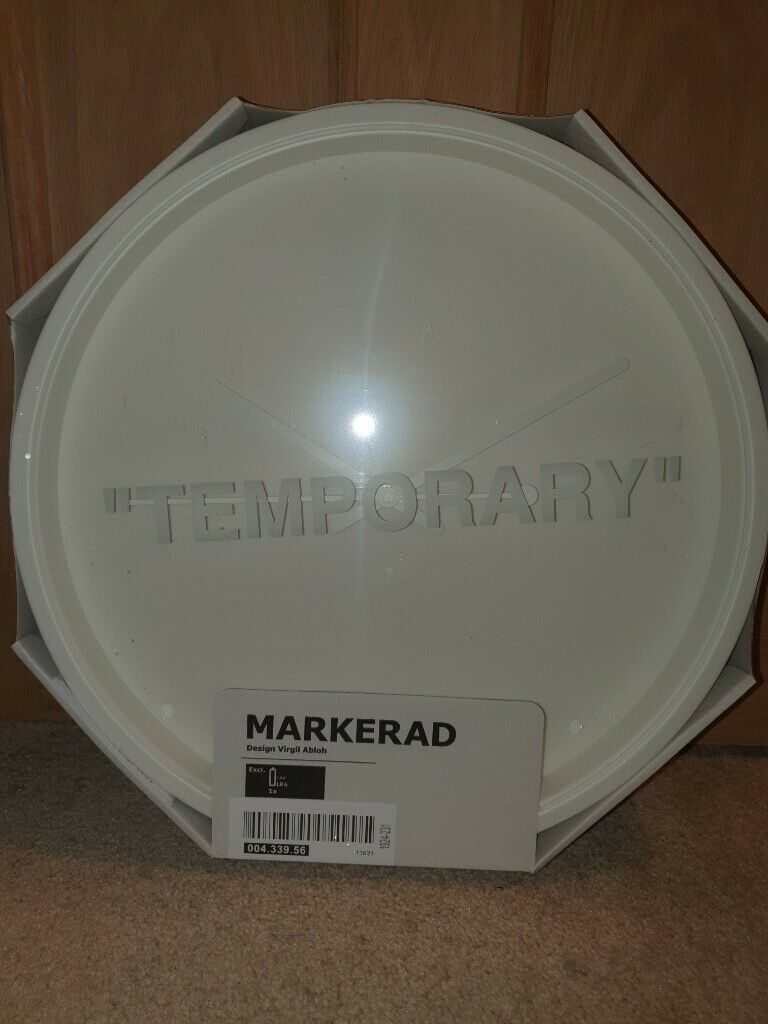 With Batteries Ikea Virgil Abloh Markerad Temporary Clock In Worcester Park London Gumtree