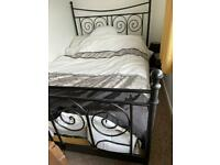 Bed frame and two matching bedside tables