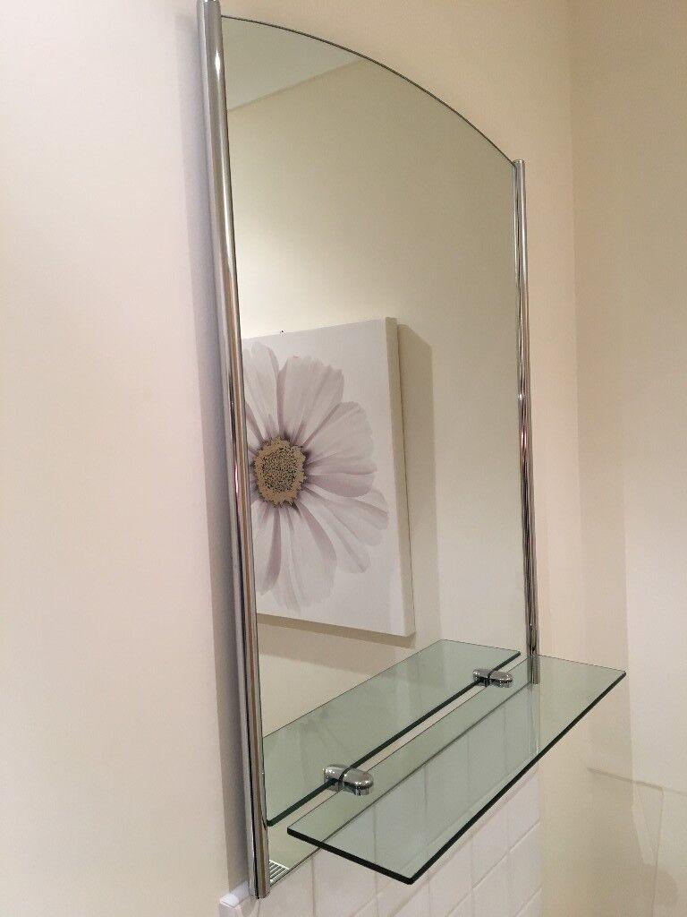 Surprising Bathroom Mirror With Glass Shelf In Ferndown Dorset Gumtree Interior Design Ideas Ghosoteloinfo