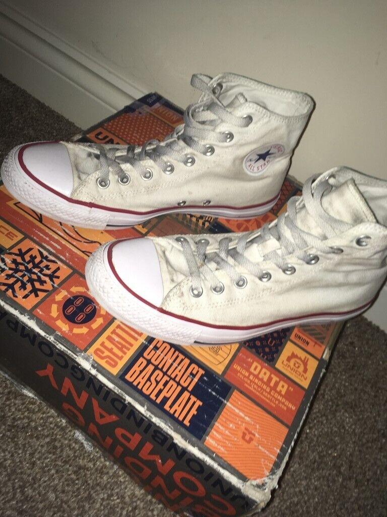 98e834c0ab0d White Converse Chuck Taylor High-tops