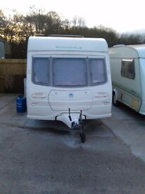 Avondale dart 556/6 berth touring caravan and newish motor mover fitted fixed bunk beds 2003,2004