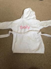 Baby Emily embroided dressing gown 0-12months