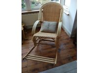 Beautiful Wicker and Bamboo Rocking Chair, handmade in Thailand and never used.