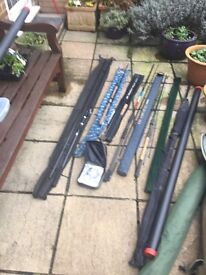 JUST REDUCED FOR QUICK SALE Match fishing rods and reels plus floats and tackle. Fantastic bargain