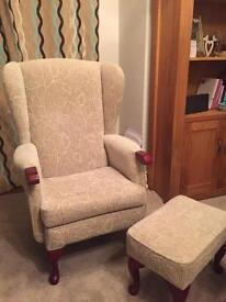 HSL Armchair & Footstool