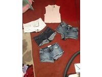 4 pairs topshop shorts & h&m top which is BNWT
