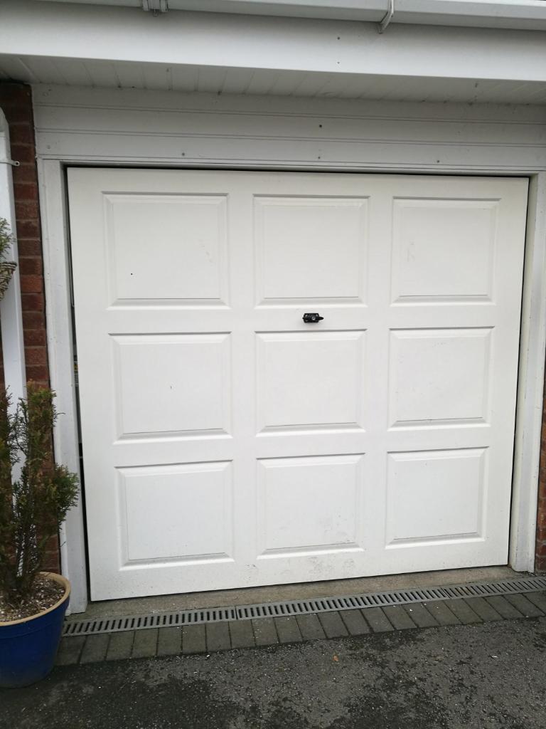White garage door with frame 2 keys in stretton staffordshire white garage door with frame 2 keys rubansaba