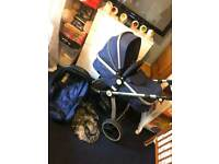 Pram and car seat iSafe in blue