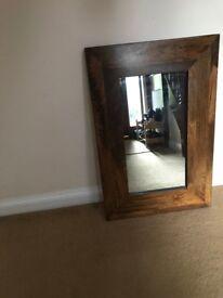 NEXT Dark Wood Mirror