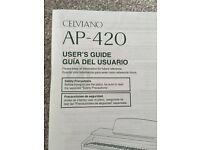 Celviano AP - 420 Piano, Stool and 7 Piano Books