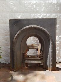 Cast iron fireplace for sale.