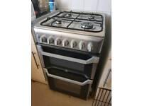 Indesit dual fuel freestanding cooker.