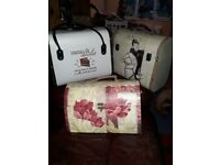 French vanity/ luggage cases