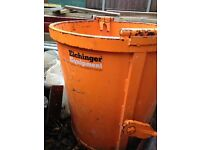 Circular Muck Skip 250ltr Eichinger Equipment