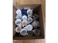 FREE - Box of assorted cups/mugs