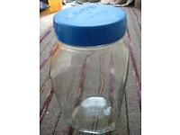 Large Roses Glass Storage Jar for £5.00