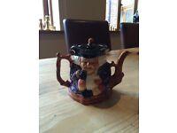 Vintage Shorter & Sons 2 faced toby jug teapot