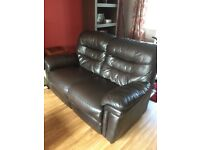 2 & 3 seater leather sofa