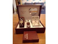 Womans Ninamyers watch and pendant gift set