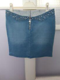 Brand New Lady Denim Mini Skirt