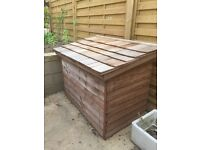 Wooden Garden Storage Chest