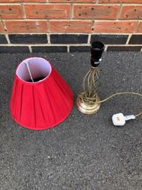 Red Lampshade & Lamp Stand - FREE