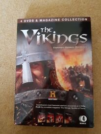 The Vikings 4 DVD set with accompanying magazine in box