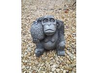 Monkey with Pineapple Stone Statues (x 7)