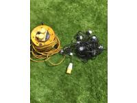 110v extension lead and 10 led sting lights