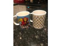 Iron man and minions cups/ mugs