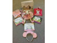 Angelina Ballerina bundle. Soft toy, books, bags etc. All as new. Some with labels still attached.