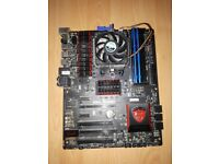 MSI GAMING 970 Motherboard + FX 4100 Quad 3.6Ghz + 8GB Ram 1866Mhz