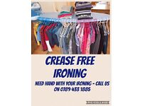 Crease Free Ironing Services