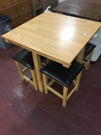 Modern table and four stools