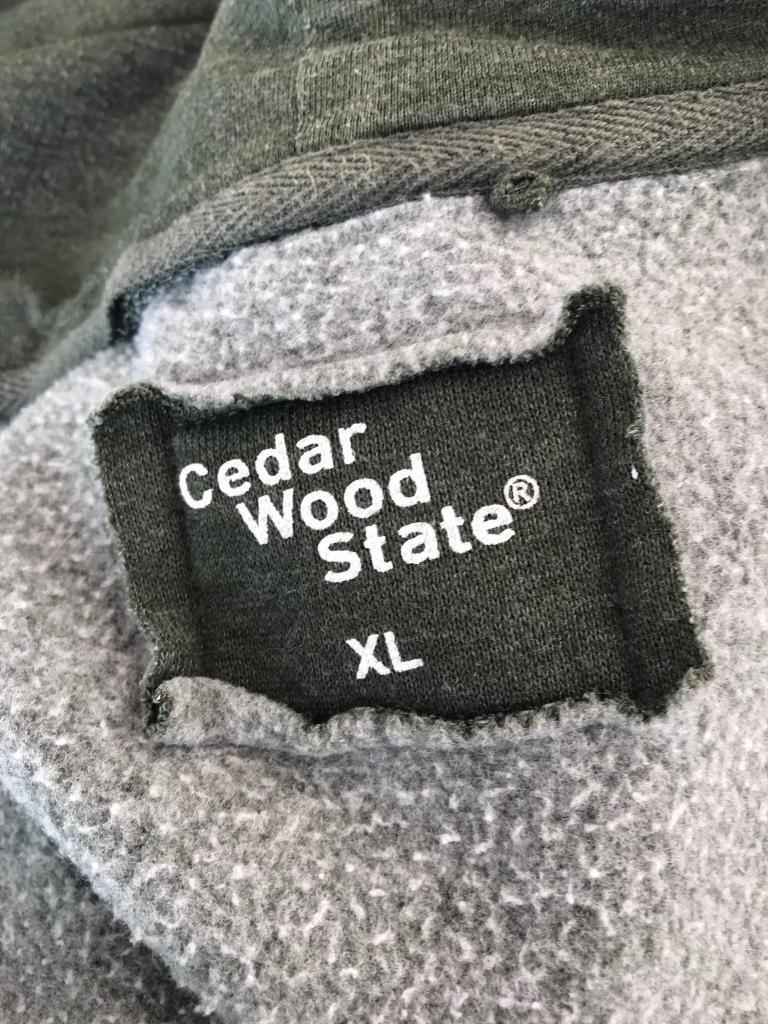 Cedar wood state hoodie