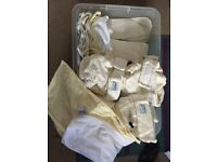 Full set of bamboo washable nappies