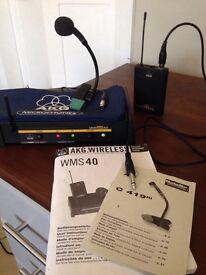 AKG wireless radio system with microphone