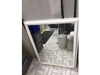 Extra large white mirror