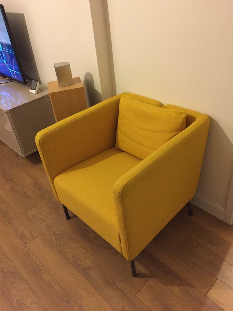 ikea ekero yellow armchair in loughton essex gumtree. Black Bedroom Furniture Sets. Home Design Ideas