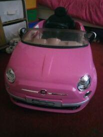 girls pink fiat