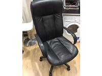 Home office leather chair with height adjust and wheels