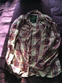 Superdry hoody large & shirt 2 XL