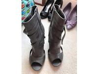 Size 7 heeled shoes/boots for sale