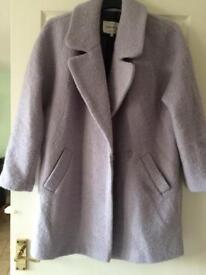 River island boucle coat size 12 lilac/purple