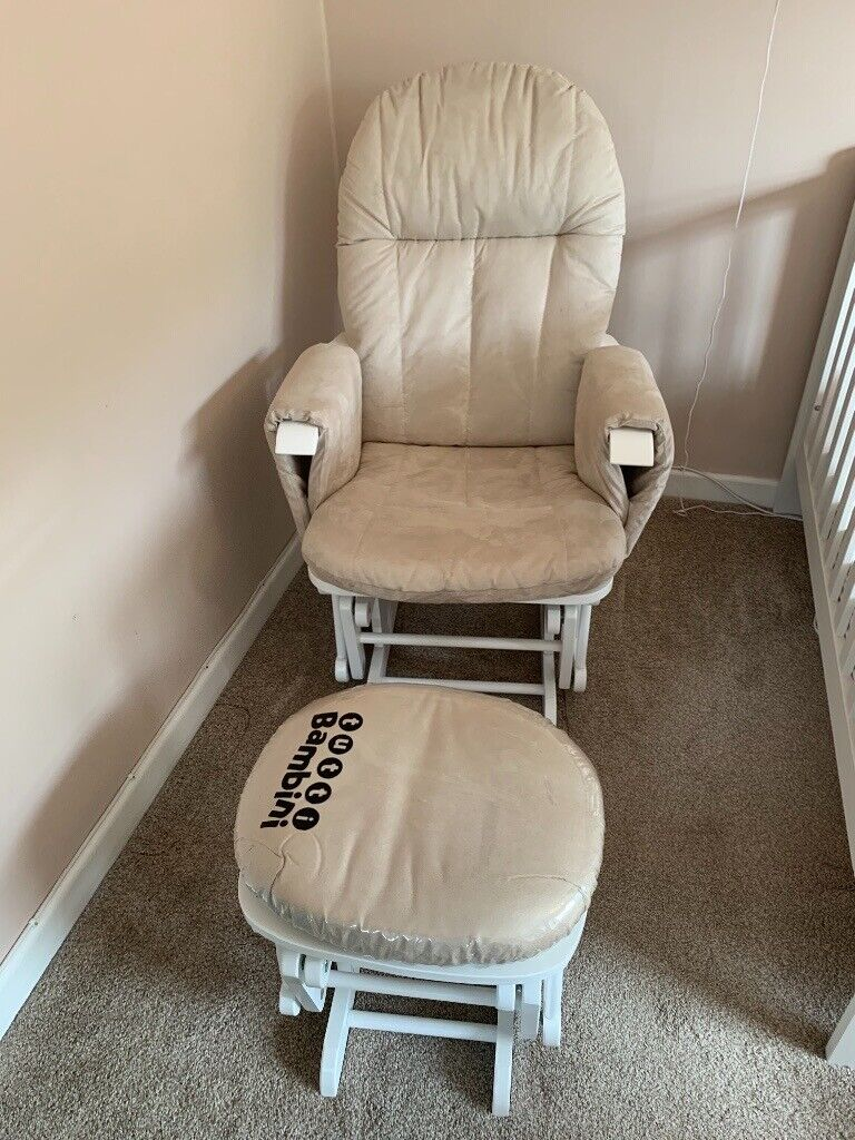 Tutti Bambini Reclining Glider Chair And Stool Nursing Chair In Havant Hampshire Gumtree