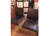INTERVIEW/MEETING ROOM/DOCTORS SET. 1 SWIVEL CHAIR, 2 STANDARD CHAIRS - DESIGNER BOSS