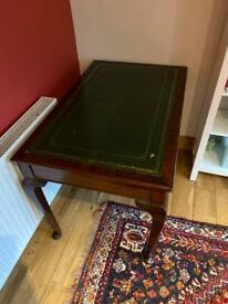 Mahogany Library Writing Table, Cabriole Leg